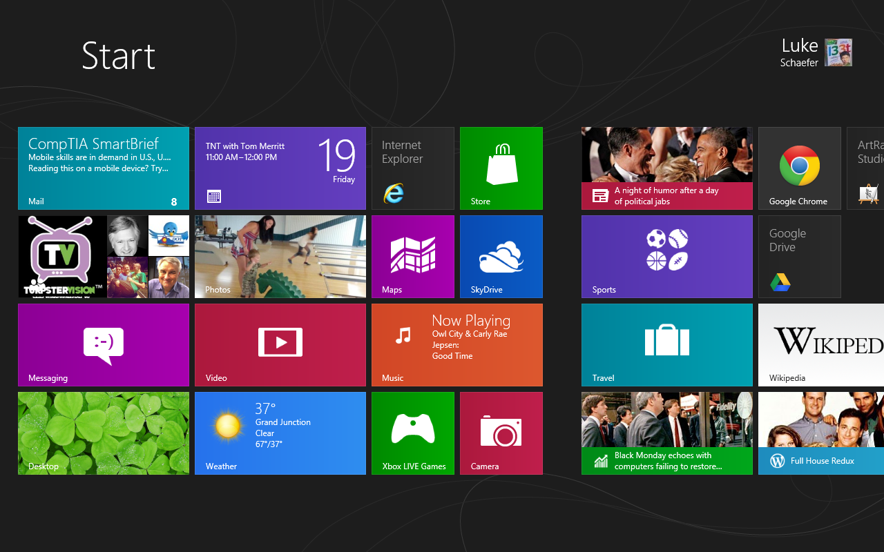 how to change windows 8 opening screen