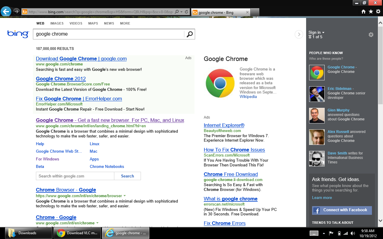 Windows 8 IE Only Used to Download Google Chrome Tek4 ME